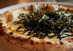 フレンチブルドッグ 中川さんの海苔ピザ